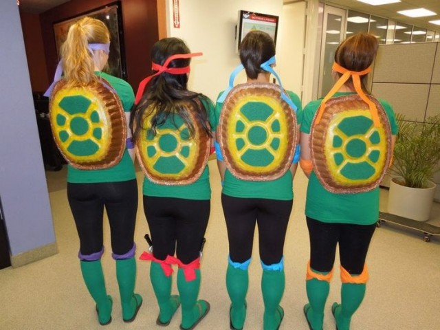 TMNT costume. Homemade Turtle Shell