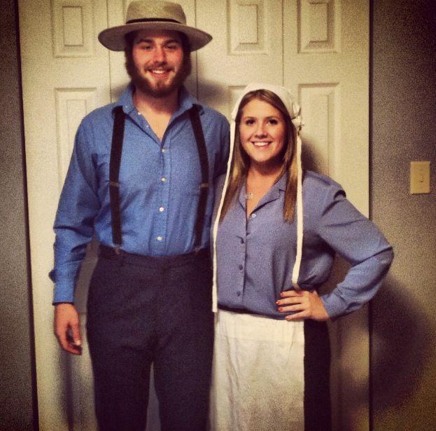 Easy DIY Amish couple costume