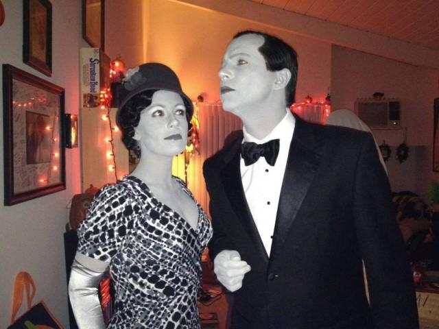 black and white actors Halloween costume