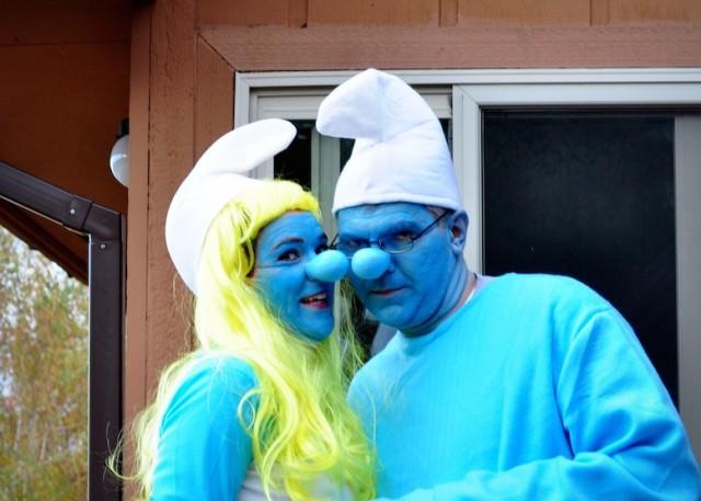 smurf couple halloween costume idea