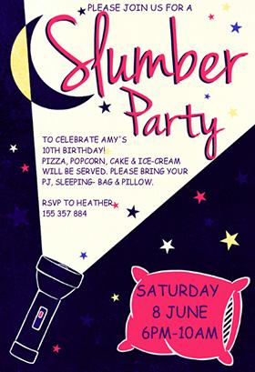 pA-flash-light slumber party greetingsisland