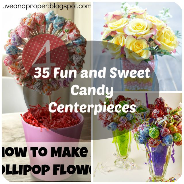 Outstanding 35 Sweet Candy Centerpiece Ideas For Parties Home Interior And Landscaping Eliaenasavecom