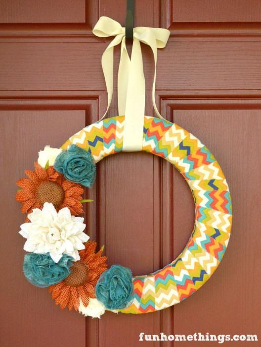 DIY-Fabric-Wrapped-Fall-Wreath