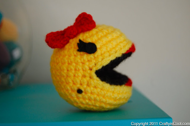 Crochet MsPac Man