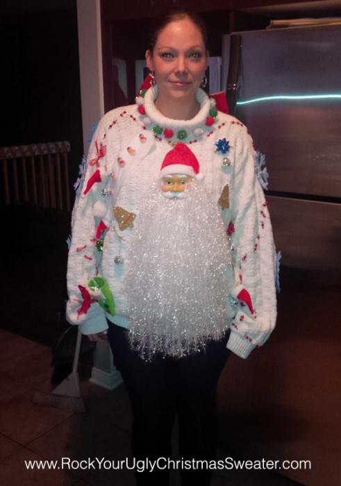 One Epic Bearded Santa Sweater