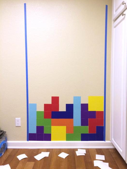 Peel and Stick Tetris Game