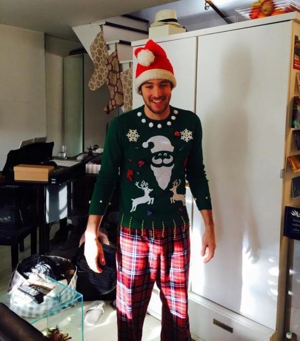 Santa and Reindeer Ugly Christmas Sweater