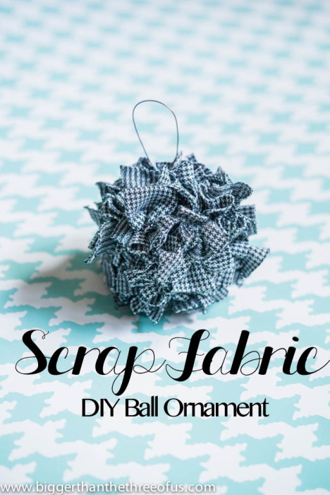 Scrap Fabric Ornament