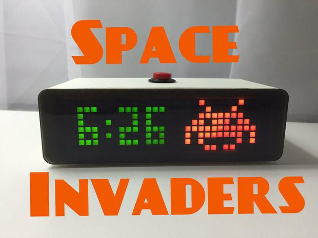 Space Invaders Clock