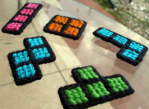 Tetris Stitch Magnets