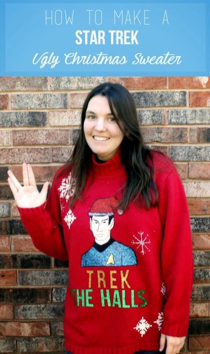 star trek christmas sweater