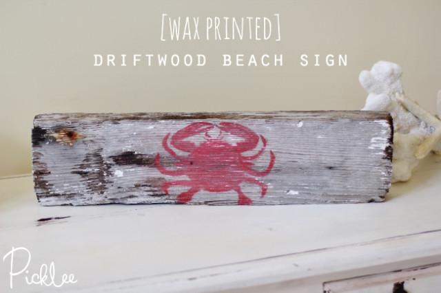 Wax Printed Beach Sign