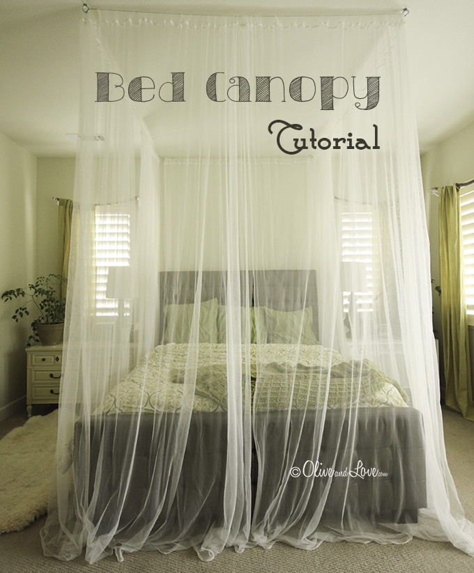 How to Make a Ceiling Bed Canopy (tutorial)