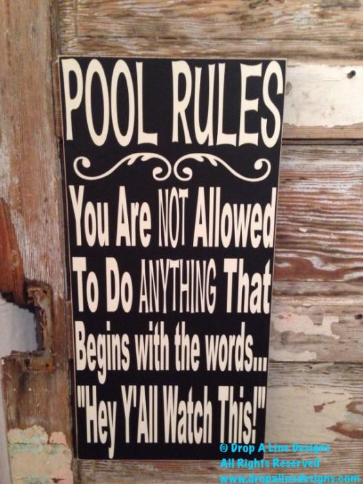 Pool Rules
