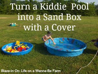 Turn a Kiddie Pool into a Sand Box with a Cover