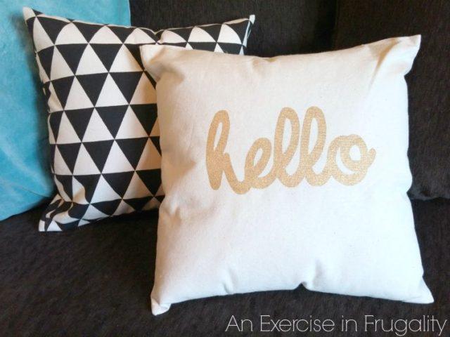 DIY No Sew Throw Pillows
