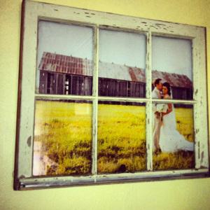 DIY Windowpane Picture Frame