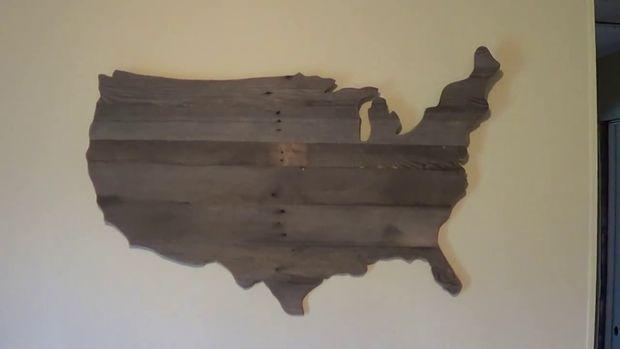 Pallet USA wall art