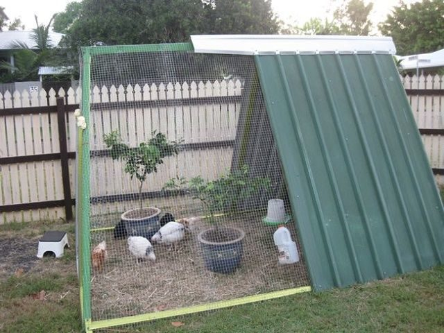 Repurposed Swing Set Chicken Coop