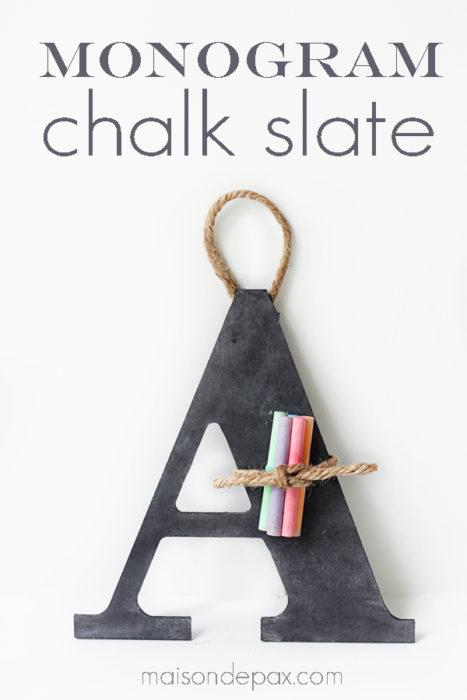 Monogram Chalk Slate