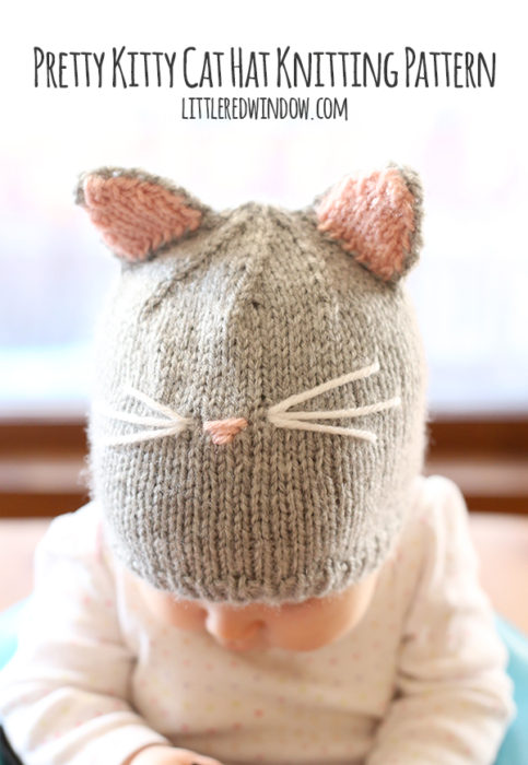 Pretty Kitty Cat Hat Knitting Pattern