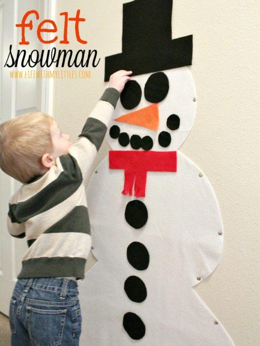 felt-snowman