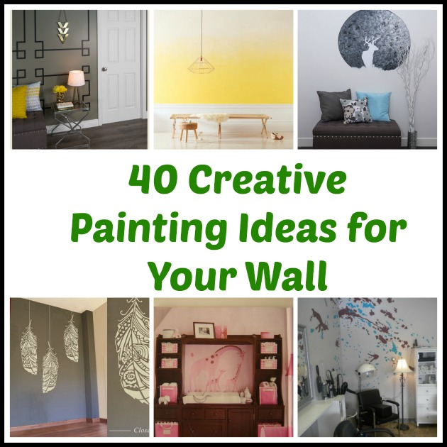 Brilliant 40 Creative Painting Ideas For Your Wall Download Free Architecture Designs Viewormadebymaigaardcom