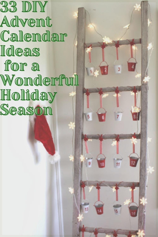 33 DIY Advent Calendar Ideas for a Wonderful Holiday Season